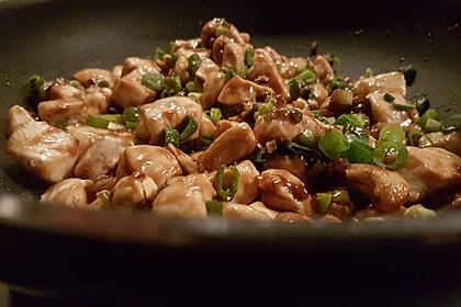 Glasiertes Huhn mit Hoisinsauce und Cashewkernen 2