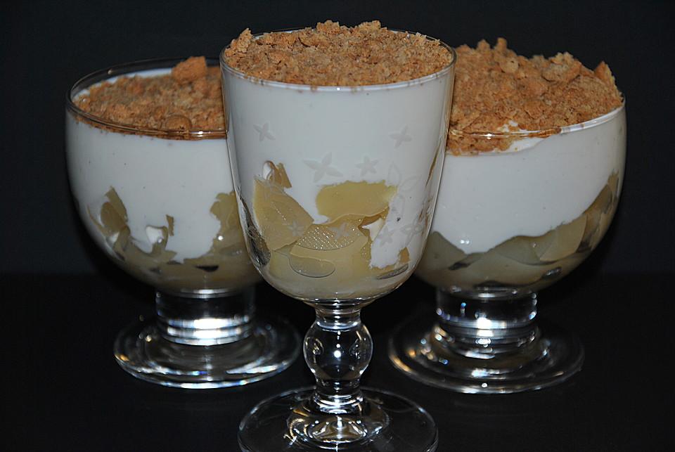 birnen quark dessert mit amarettinikruste rezept mit bild. Black Bedroom Furniture Sets. Home Design Ideas