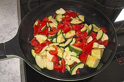 Überbackene Nudeln mit Gyros und Gemüse 1
