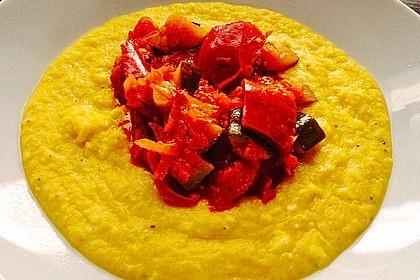 Polenta aus frischen Maiskolben mit mediterranem Gemüse 1