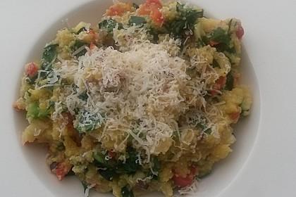 Polenta aus frischen Maiskolben mit mediterranem Gemüse 2