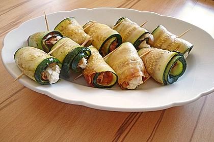Zucchini-Bacon-Frischkäse-Röllchen 1