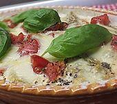 Chicoree mit Tomaten und Mozzarella überbacken