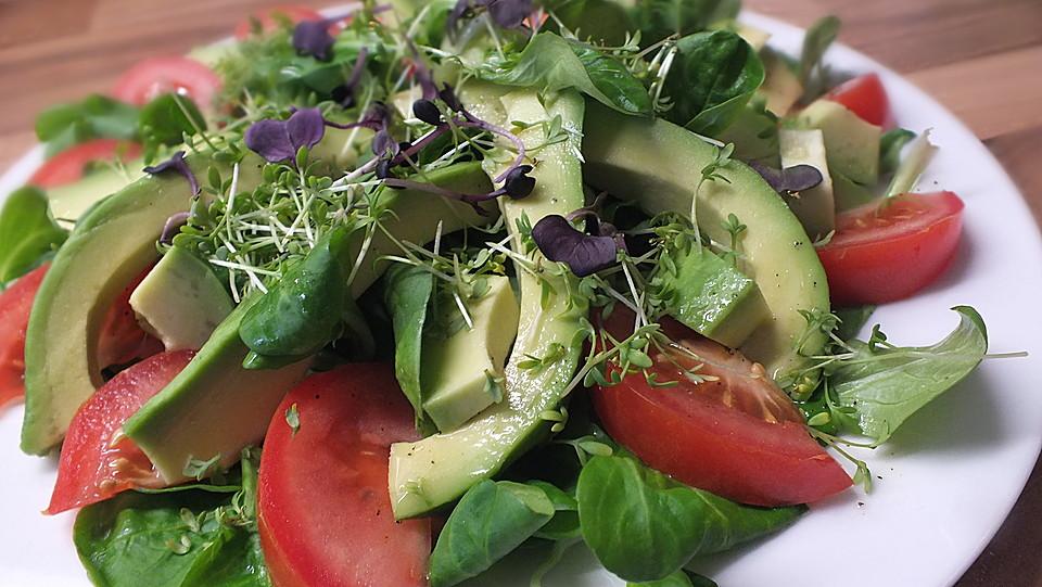 sprossen avocado salat rezept mit bild von lillyfee2014. Black Bedroom Furniture Sets. Home Design Ideas