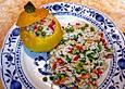 Zucchini mit Konfettireis