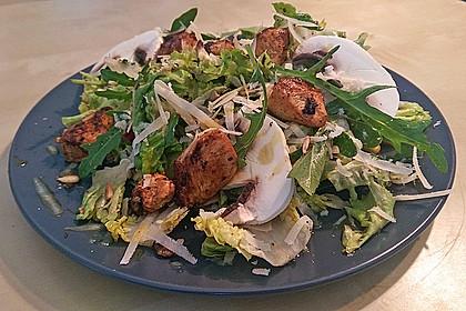 fitness salat mit putenw rfeln und zitronen honig vinaigrette rezept mit bild. Black Bedroom Furniture Sets. Home Design Ideas