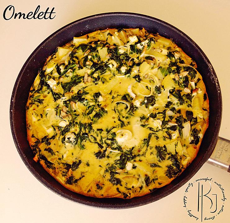 spinat kartoffel omelette von kimberley joanna. Black Bedroom Furniture Sets. Home Design Ideas