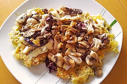Farfalle-Rösti mit Pilz-Radicchio-Gemüse 3