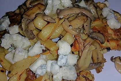 Farfalle-Rösti mit Pilz-Radicchio-Gemüse 5