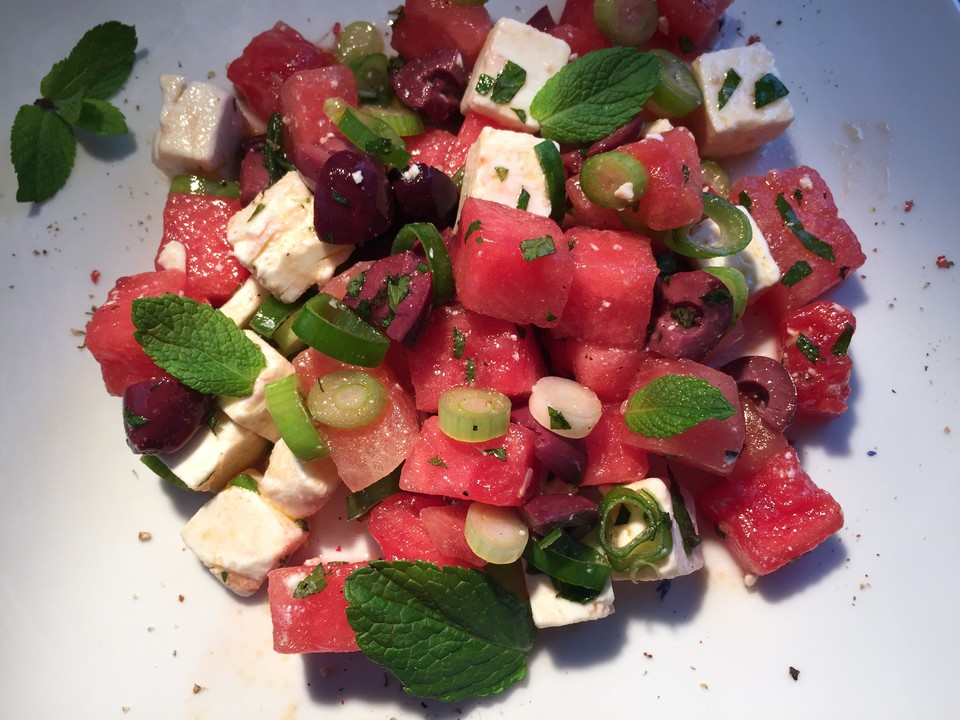 sommerlicher melonen feta salat rezept mit bild. Black Bedroom Furniture Sets. Home Design Ideas