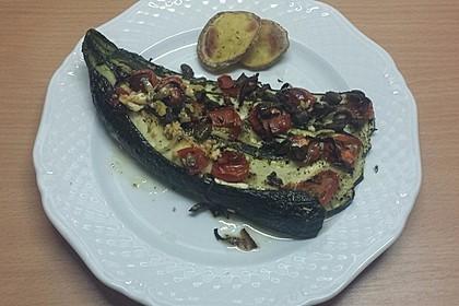 Zucchinifächer mit Feta 110