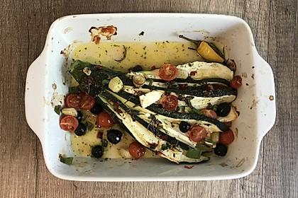 Zucchinifächer mit Feta 32