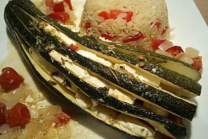 Zucchinifächer mit Feta 68
