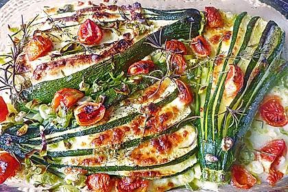 Zucchinifächer mit Feta 1
