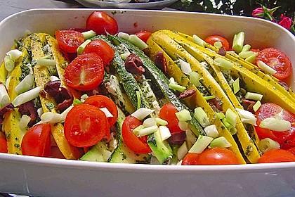 Zucchinifächer mit Feta 15