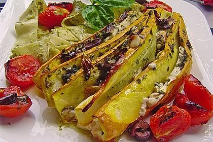 Zucchinifächer mit Feta 4