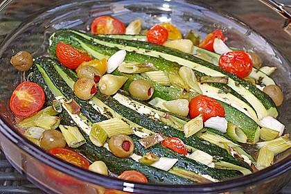 Zucchinifächer mit Feta 12