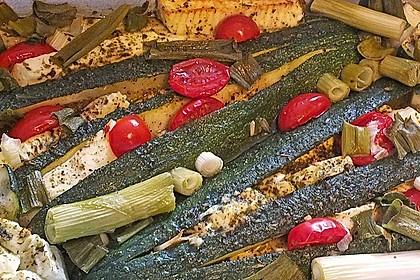 Zucchinifächer mit Feta 54