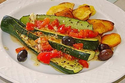 Zucchinifächer mit Feta 9