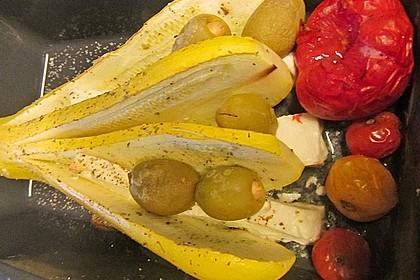 Zucchinifächer mit Feta 115