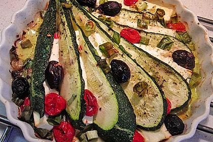 Zucchinifächer mit Feta 13