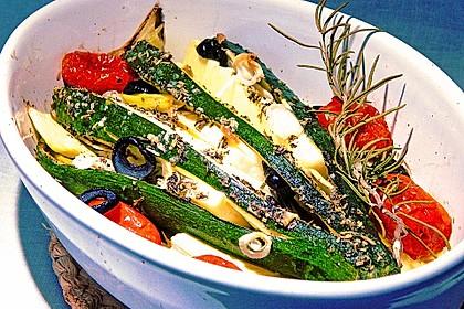 Zucchinifächer mit Feta 21