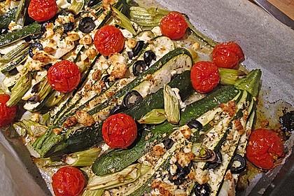Zucchinifächer mit Feta 3