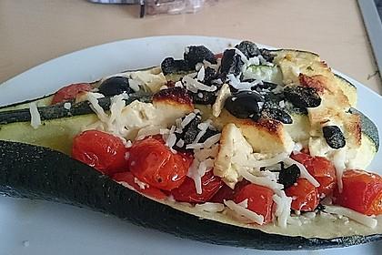 Zucchinifächer mit Feta 37