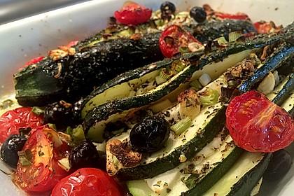 Zucchinifächer mit Feta 16