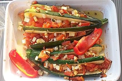 Zucchinifächer mit Feta 39