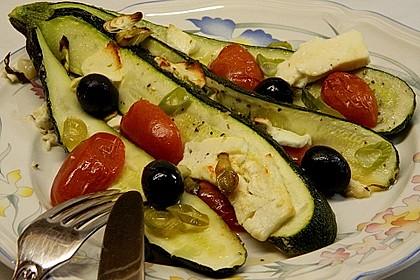 Zucchinifächer mit Feta 46