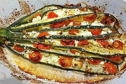Zucchinifächer mit Feta 2