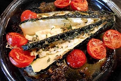 Zucchinifächer mit Feta 93