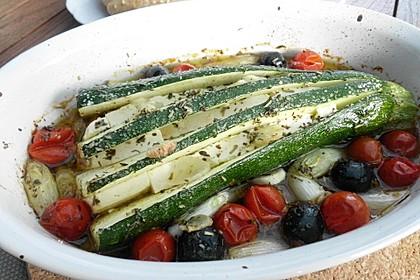 Zucchinifächer mit Feta 58