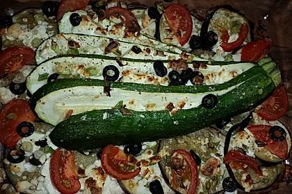 Zucchinifächer mit Feta 89