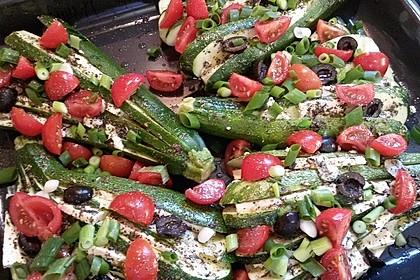 Zucchinifächer mit Feta 29