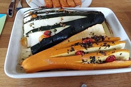 Zucchinifächer mit Feta 78