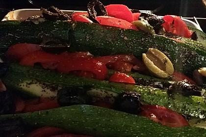 Zucchinifächer mit Feta 73