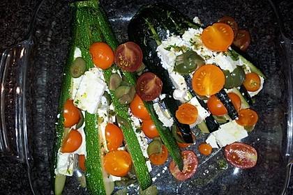 Zucchinifächer mit Feta 109