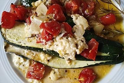 Zucchinifächer mit Feta 90