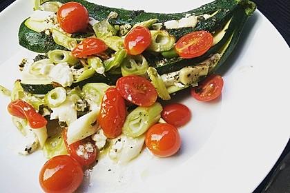 Zucchinifächer mit Feta 20