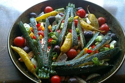 Zucchinifächer mit Feta 14