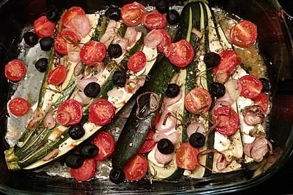 Zucchinifächer mit Feta 28