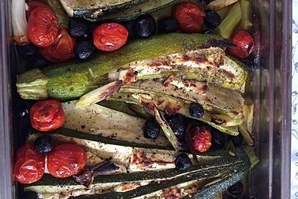 Zucchinifächer mit Feta 62