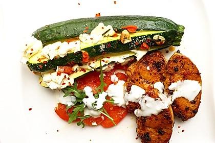 Zucchinifächer mit Feta 27