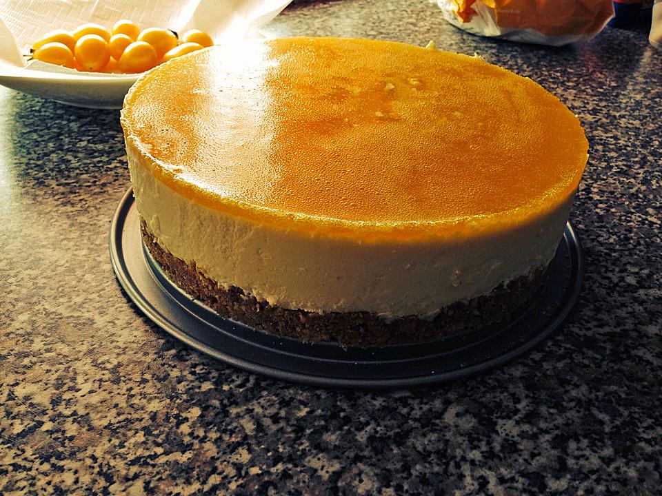 Kasekuchen Mit Mandarinen Ohne Backen Hausrezepte Von Beliebten Kuchen