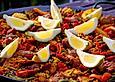 Fleisch-Paella ohne Meeresfrüchte