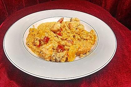 Lachs-Quinoa-Pfanne mit Kokosmilch und Paprika 1