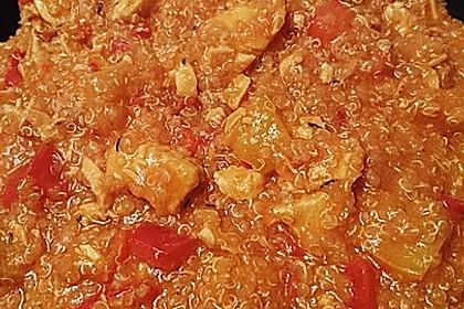 Lachs-Quinoa-Pfanne mit Kokosmilch und Paprika 5