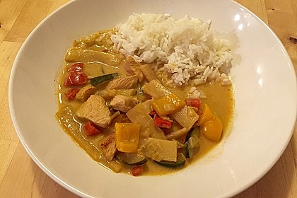 Low Carb Hähnchencurry 5